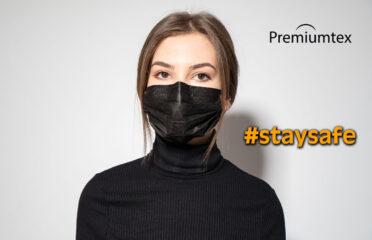 Premiumtex schwarze Mundnasenmaske (OP-Maske)